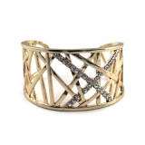 Fashion Golden Diamond Hollow Reticular Cuff Bracelet