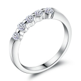 Fashion Luxury Silver Rhinestone Ring