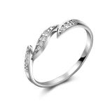 Fashion Simple Silver Rhinestone Ring