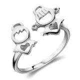 Personalized Lovely Silver Ring