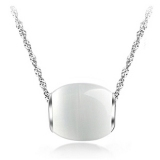 Fashion Jewelry Silver Opal Pendant Necklace
