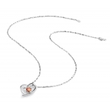 Luxury Exquisite Silver Pendant Necklace With Zircon