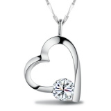 Exquisite Elegant Heart Shape Rhinestone Pendant Necklace