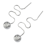 Luxury Ball Shape 925 Sterling Silver Dangle Earring