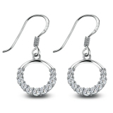 Exquisite 925 Sterling Silver CZ Drop Earring