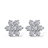 Chic Snowflake Shape 925 Sterling Silver Embedded CZ Stud Earring