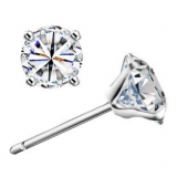 Chic 925 Sterling Silver Embedded CZ Stud Earring