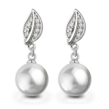 Luxury Pink Pearl 925 Sterling Silver Drop Earring