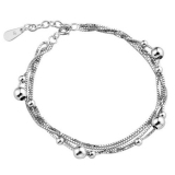 Chic Silver Layered Bracelet