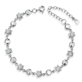 Fashion Exquisite Silver Crystal Link Bracelet
