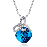 Fashionable Exquisite 18K GP Austrian Crystal Pendant Necklace