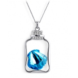 Fashionable Wishing Bottle Shape Austrian Crystal Pendant Necklace