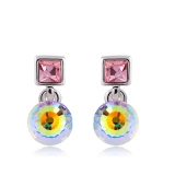 Exquisite 18K GP Austrian Crystal Drop Earring