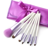 Pony Hair Brush Set With Purple Pouch 7 Pcs