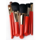 7 Pcs Orange Luxury Makeup Brush Set