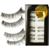 Full New 1 Pair Real Hair False Eyelash
