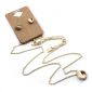 Gold Plated Alloy Letter N-Z Pendant Necklace