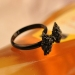 Chic Lovely Black Butterfly Rhinestone Ring