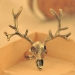 Vintage Bold Fashion Antler Skull Animal Cocktail Rings