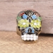 National Color Ceramic Glaze Skull Personalized Ring