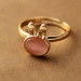 Lovely Rhinestone Rabbit Gold Plated Alloy Ring