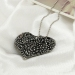 Simple Hollowed Heart Sweater Long Chain Necklace