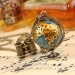 Ladies Personalized Telescope Globe Shape Chain Necklace