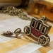 Lovely Red Rhinestone Carriage High Heel Pendant Chain Necklace