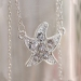 Fashion Jewelry Seaatsr Chain Necklace With Rhinestone