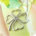 Korea Style Fashion Silver Four Leaf Clover Pendant Necklace