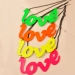 "Fashion Fluorescent Color ""LOVE"" Letter Chain Pendant Necklace"