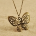 Vintage Hollow Bow Chain Necklace