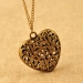 Vintage Hollow Heart Pendant Necklace