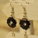 Lovely Black Resin Flower Ladies' Drop Earrings