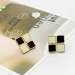 Elegant Solid Geometry black/white Resin Stud Earrings for Ladies