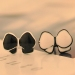 Fashion Black White Asymmetric Bowknot Stud Earring
