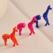 Personalized Lovely Fluorescence Color Stereo Giraffe Stud Earrings