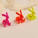 Lovely Fluorescence Color Stereo Rabbit Stud Earrings