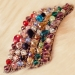 Korean Vintage Colorful Irregular Rhinestone Headbands