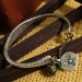 Ladies' Vintage Old Fashioned Simple Charm Bracelet