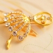 Fashion Elegant Ballet Girl Shape Rhinestone Brooch