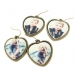 Heart Shape Vintage Earrings With Rhinestone