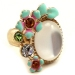 Chic Flower Rhinestone Flower Ring