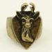 Antique Deer Wide Band Animal Ring
