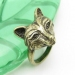 Vintage Fox Shape Animal Ring
