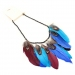 Vintage Multi-color Feather Pendant Necklaces