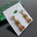 Luxury Golden Dangle Earrings with Rhinestone