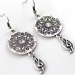 Vintage Silver Drop Earrings With Rhinestone