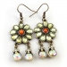 Fashion Flower Rhinestone Drop Earrings