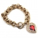 Fashion Red Heart Rhinestone Charm Bracelets